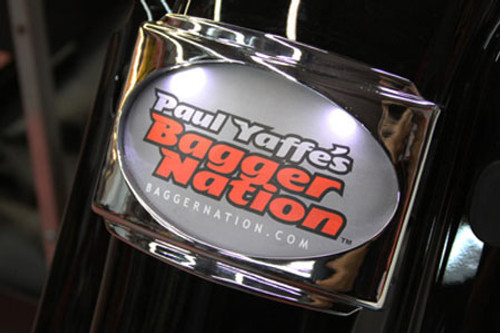 Paul Yaffes Bagger Nation CVO Universal Stealth III License Plate Frame