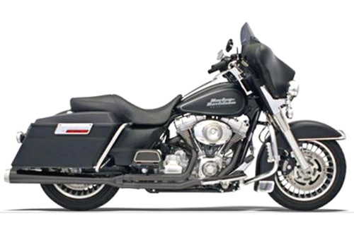 Bassani Road Rage 2-Into-1 System for FLHT/FLHR/FLHX,FLTR  '10-16 Black, Long