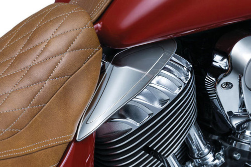 Kuryakyn Saddle Shield Heat Deflectors for 2014-Up Indian Chief, Dark Horse, Classic, Vintage, Chieftain & Roadaster Models (Except Scout)