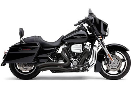 Cobra Speedster Short Swept for '10-16 H-D Touring Models -Black