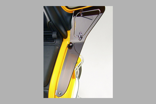 Show Chrome Upper Wind Deflector for GL1800 '01-17 Smoke Panels