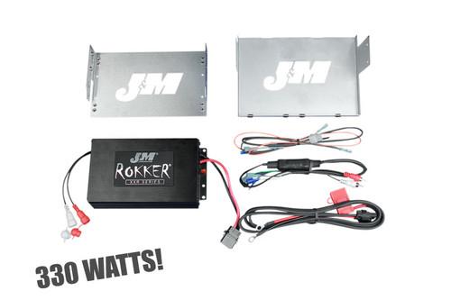 J&M Rokker® XXR 330 WATT Amplifier Kit for '06-13 FLHT, FLHX