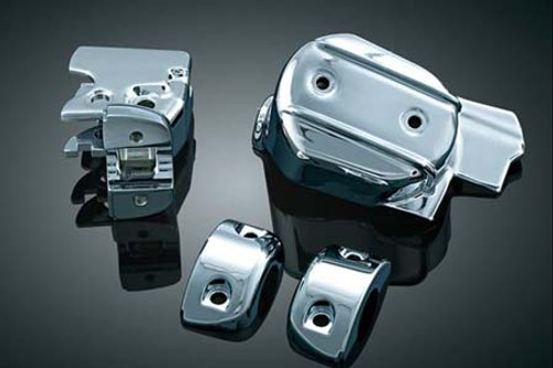 Kuryakyn Hand Control Chrome Dress-up/Cover Kit for '08-'12 Electra Glides, Road Glides Street Glides, & Road Kings -Set