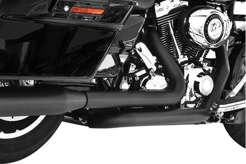 Freedom Performance Right Side Tuck & Under Headers for '09-17 FLHT/FLT -BlackDOES NOT INCLUDE MUFFLERS