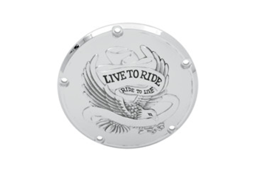 Drag Specialties Live To Ride Derby Covers for '84-98 Big Twin -Chrome