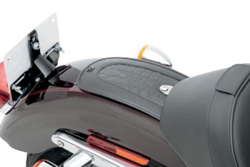 Drag Specialties Fender Skin for '04-14 XL Models (Except 48) -Embossed Gator Leather Center