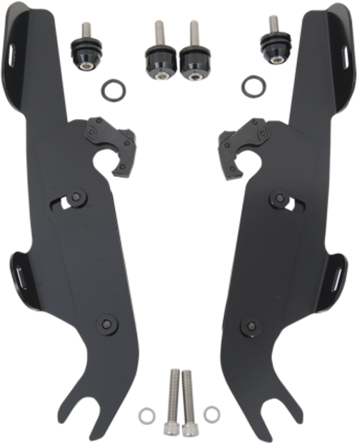 Memphis  Shades  Batwing Fairing Mounting Kit for Certain Softails WITH a Lightbar FAIRING AND WINDSHIELD NOT INCLUDED -Black