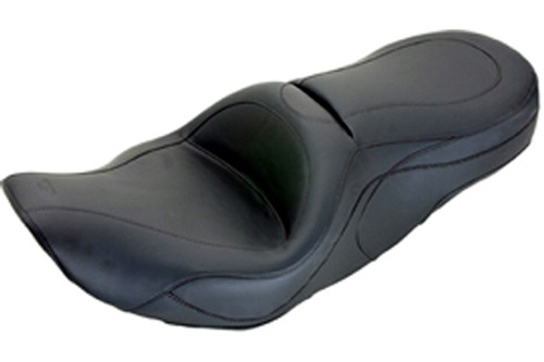 Mustang  One-Piece Sport Touring Seat  for FLHX Street Glide '06-07 & FLHT/FLTR/FLHR Screamin' Eagle '97-05 -No Studs