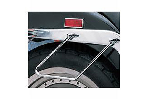 Drag Specialties Chrome Saddlebag Support Brackets for '84-99 FXST/FLST Models Replaces OEM #91790-84A (Two-Bolt Mount)