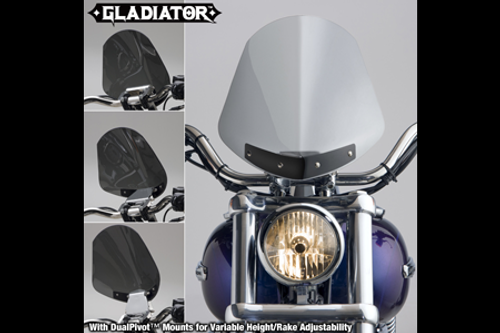 National Cycle Gladiator Windshield for FXDB '06-07 Light Tint w/ Bright Chrome Hardware
