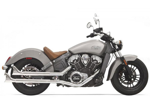 Bassani  2-1/4 inch Chrome Housing with Baffle and Fishtail End  for '15-Up Indian Scout