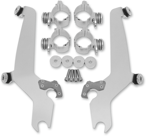 Memphis Shades Sportshield No-Tool Windshield Mounting Hardware for Vulcan 800A '95-05