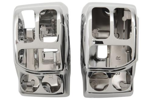 Drag Specialties Switch Housing Kit  for '14-Up FLHT/FLHX W/ OEM Hydraulic ClutchChrome