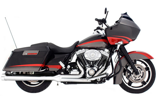 Rinehart Exhaust 2-into-1 Exhaust for Harley Davidson Touring Models '09-16 -Chrome w/ Chrome End caps