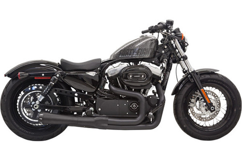 Bassani Road Rage II Mega Power System  for '14-up XL Models w/ Mid or Forward Controls  -Black