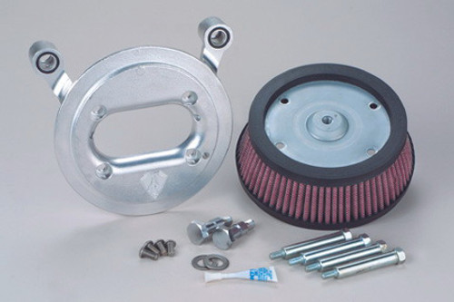 "Arlen Ness   Big Sucker Stage II Air Cleaner Assembly for '99-06  Twin Cam Carb and '01-17 Twin Cam Delphi fuel-injected Models (Excludes 08-17 FLH, FLT; 16-17 FLSTFS, FLSS ) - Natural  DOES NOT INCLUDE COVER ACCEPTS 8"" ROUND NESS OR"