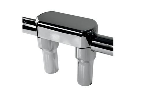 """Drag Specialties Handlebar Riser/Top Clamp  w/ 1½"""" Clamping Area -4"""" Tall, Chrome"""