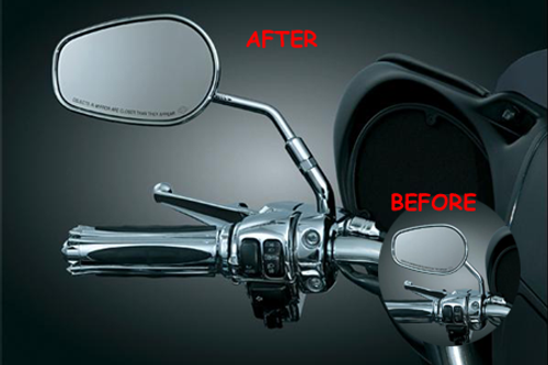 Kuryakyn Mirror Stem Extenders for Stock H-D Mirrors w/ Round Stems -Pair