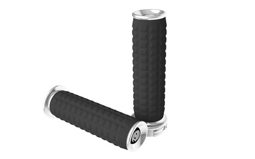 Roland Sands Traction Grips for all '84-Up H-D Models (except '08-Up FL & FL Trikes) -Chrome