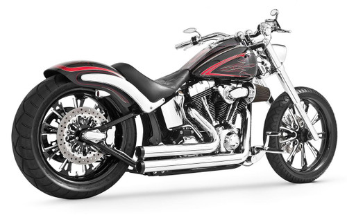 Freedom Performance Exhaust Independence Shorty for Harley Davidson '86-17 Softail Models - Chrome