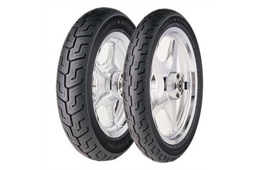 Dunlop Harley Davidson D401 Tires FRONT 100/90-19BLK  57H Black -Each