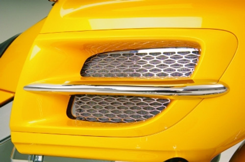 Show Chrome Radiator Accent Grilles for GL1800 '01-05