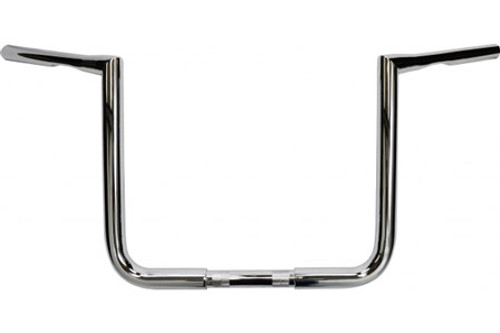 L.A. Choppers 12 inch Bagger Twin Peaks Ape Hangers - 1.25 inch for H-D Touring Models -Chrome