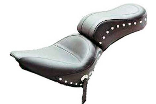 Mustang  One-Piece Original Seat  for Softail '84-99-Studded
