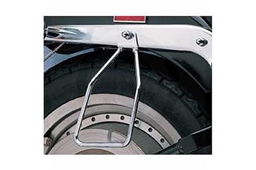 Drag Specialties Chrome Saddlebag Support Brackets for '84-99 FXST/FLST Models (Single-Bolt Mount)