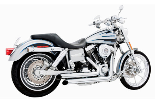 Freedom Performance Exhaust Declaration Turn Out for Dyna '06-17 - Chrome