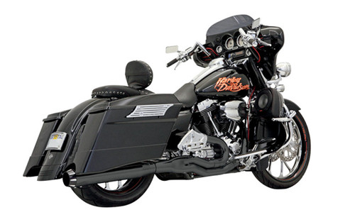 Bassani Road Rage II  2-Into-1 B1 POWER SYSTEM for '95-16 FL Models -Black
