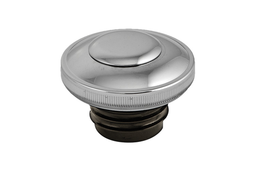 Hard Drive Gas Cap for '82-95 HD  -Screw in w/ Lock & Cover  Vented, Chrome (each)