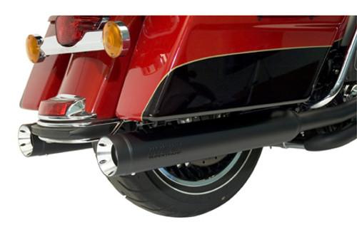 SuperTrapp Stout Slip-On Mufflers for '10-16 FLHT/FLHR/FLHX/FLTR -Black  MUFFLERS ONLY