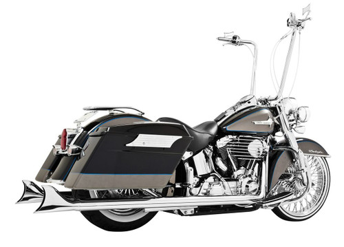 """Freedom Performance Sharktail System for '97-06 Softail - Extended 36"""", Chrome"""