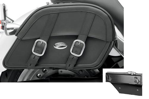 Saddlebag Package for Honda Aero 750 Models Saddlemen Drifter Saddlebags and Easy Brackets