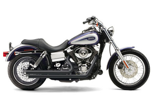 Cobra Speedster Slashdowns  Exhaust w/ PowerPort for Dyna Models '12-17 - Black