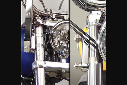 National Cycle QuickSet4 Mount Hardware for SwitchBlade Windshields & Stinger Fairings on FXD Models  '06-Up  w/ 49mm Fork Tubes