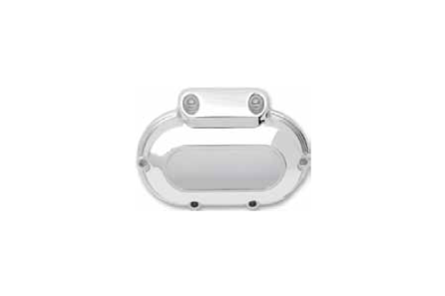 Drag Specialties Chrome Transmission Side Cover for '07-Up FL & Trike; '06-Up FXD/FXDWG & '07-Up FXST/FLSTF Replaces OEM #37116-06