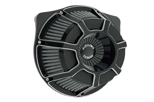 Arlen Ness Inverted Series Air Cleaner Kits for '08-16 Harley Davidson & H-D Trike Models -Beveled, Black Anodized