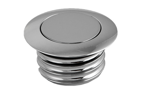 Hard Drive Gas Cap for '82-95 HD & '04-06 XL -Pop-up Screw in Smooth Vented -Chrome (each)