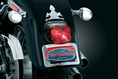 Kuryakyn L.E.D. Lighted Curved License Plate Mount for Aero 750 '04-Up