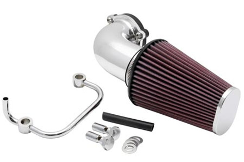 K & N Air Filters Aircharger Performance Intake Kit for '07-Up XL -Chrome