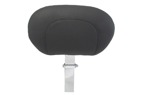 Mustang Driver Backrest (Post & Pad ONLY) for Harley Davidson Touring Models -Vintage (For use with One Piece Super Touring Seat #79538)