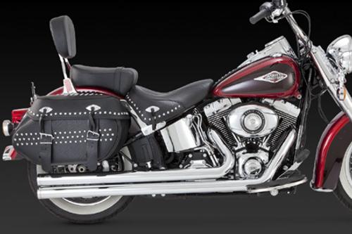 Vance & Hines Big Shots Long for Harley Davidson Softails '12-17 - Chrome