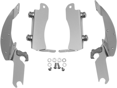 Memphis  Shades  Batwing Windshield Mounting Kit for Vulcan 1700 Classic/LT & Nomad 1700 '09-Polished FAIRING AND WINDSHIELD NOT INCLUDED