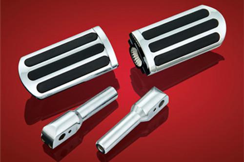 Show Chrome Rail Slider Peg System for VLX600 '88-08, Ace 750, Spirit/Sabre 1100 & Vaquero 1700 -Kit