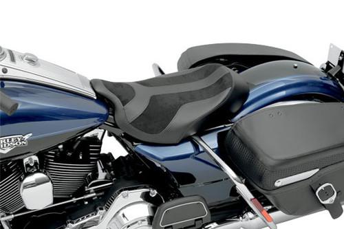 Saddlemen/Covington Customs Signature Series Solo Seat for Harley Davidson Touring Models 2008-Up -SaddleHyde & Suede