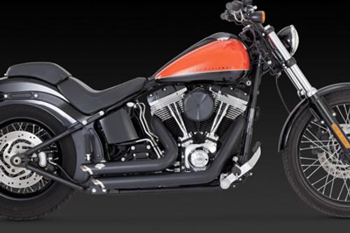 Vance & Hines Shortshots Staggered for Harley Davidson Softail '12-17 -Black