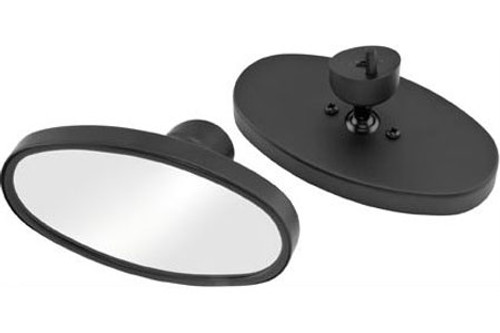 Bikers Choice Mirrors for '06-08 FLHX & Inner Fairing on '96-10 FLHT/FLHTC/FLHTCU-Oval, Black (Pair)