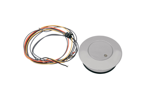 "Drag Specialties Fuel Level Cap w/ LED warning light (2.75"" o.d.) for L96-13 H-D Models (except '04-13 XL)"